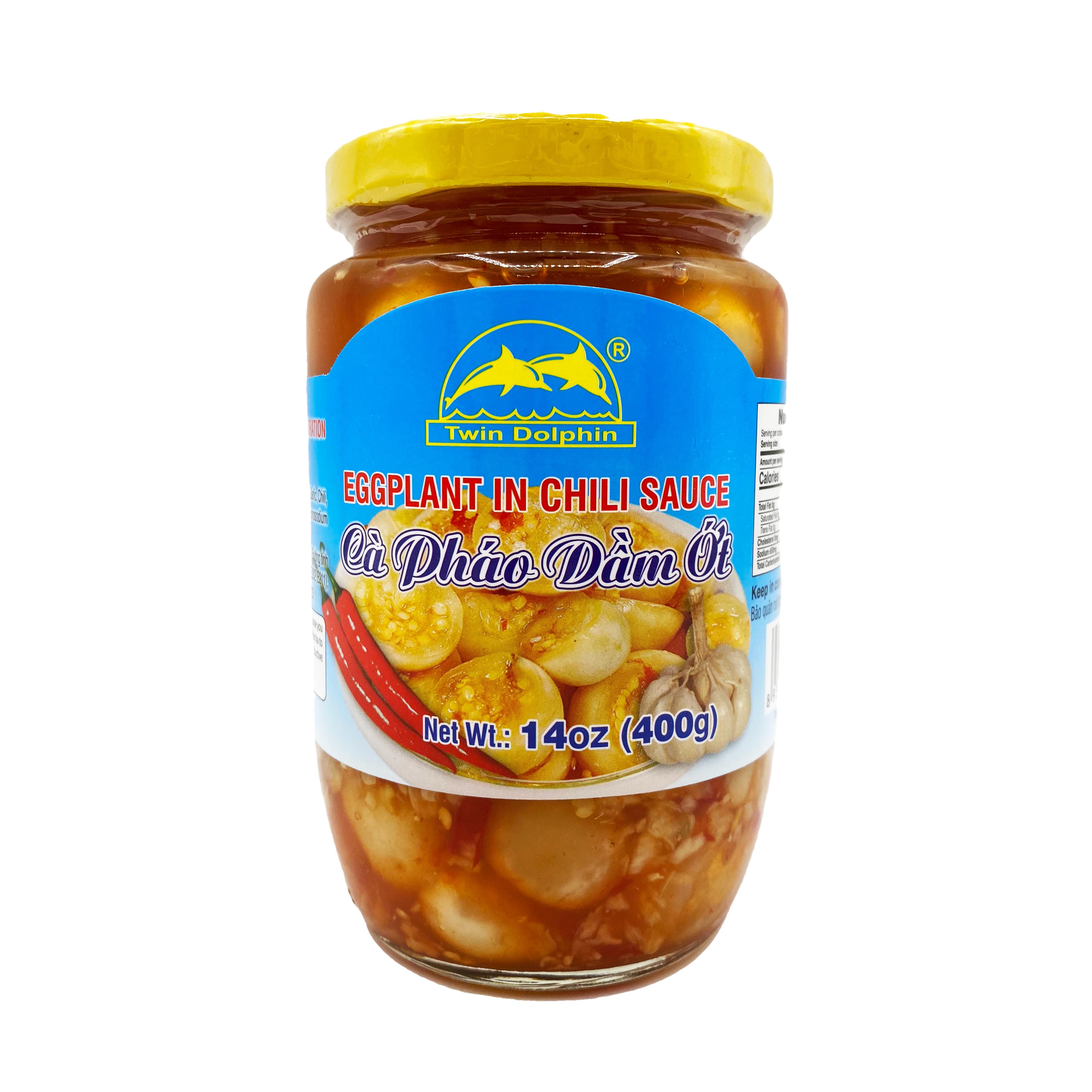 TWIN DOLPHIN Eggplant In Chili Sauce / Ca Phao Dam Ot 14 OZ