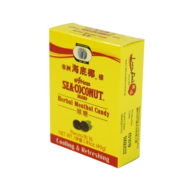 AFRICAN SEA COCONUT Herbal Menthol Candy 1.41 Oz