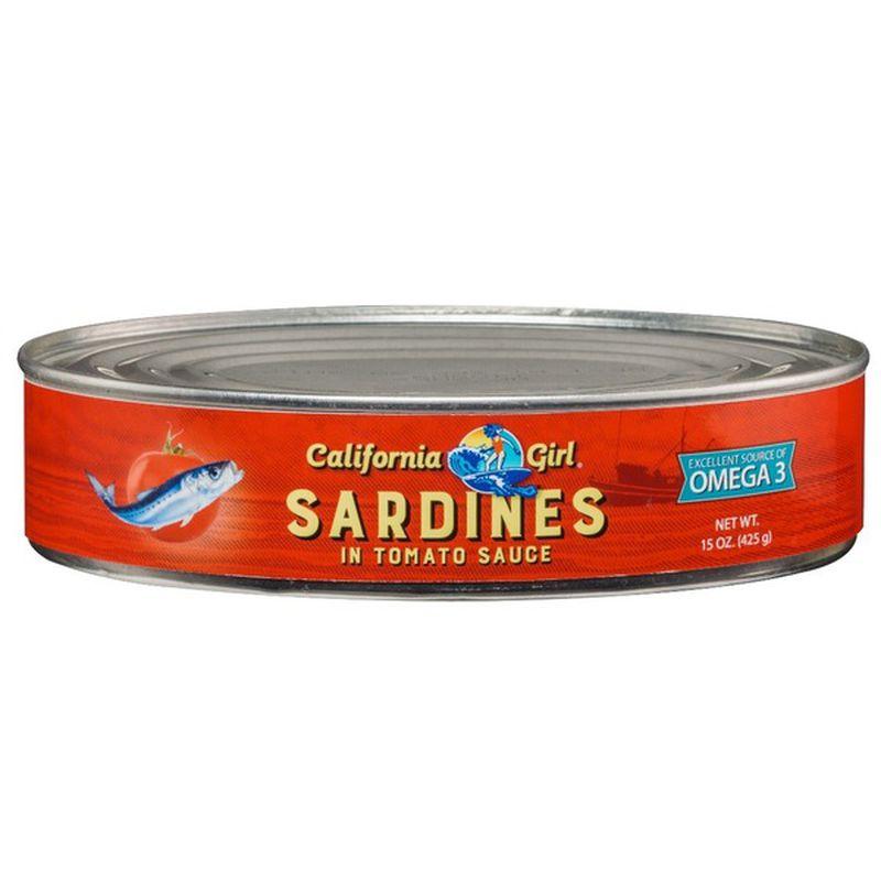 CALIFORNIA Girl Sardines In Tomato Sauce 15 OZ