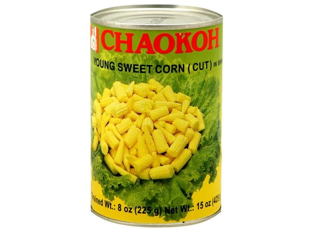 CHAOKOH Young Sweet Corn (Cut) In Brine 15 OZ