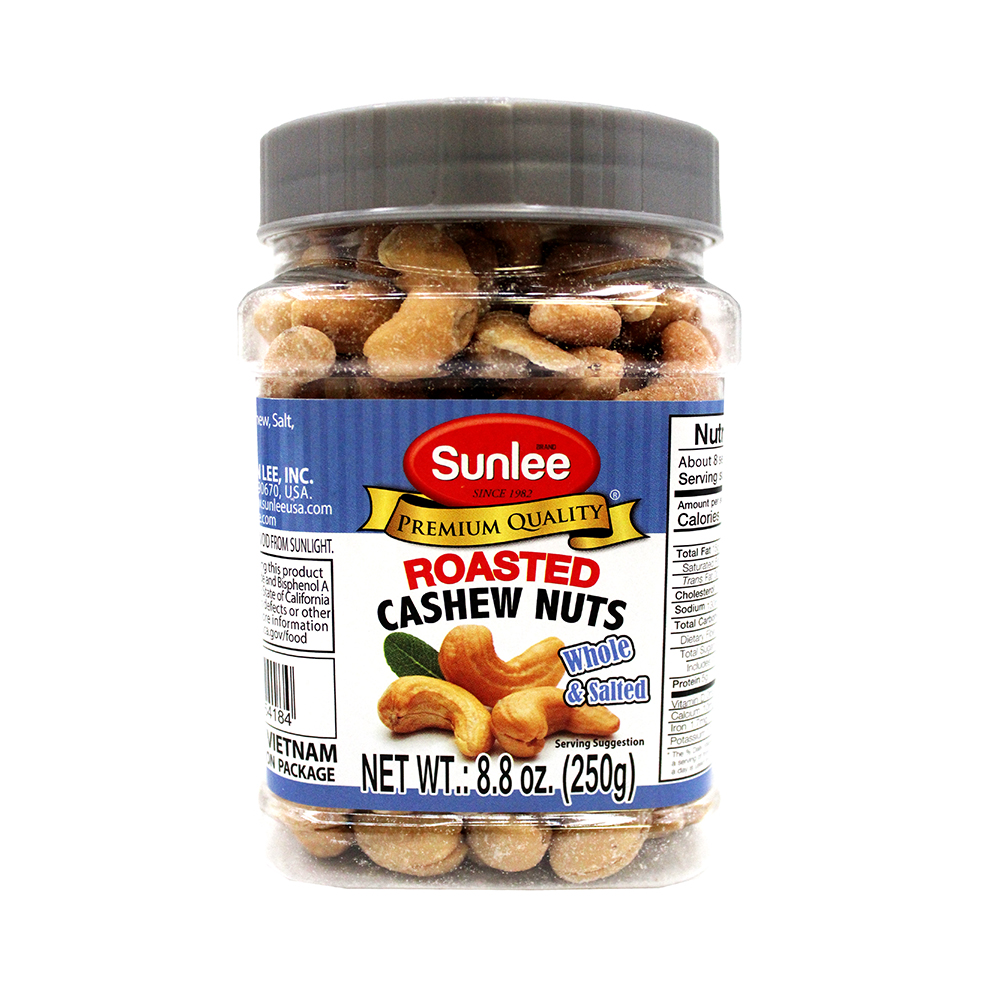 SUNLEE Roasted Cashew Nuts Whole & Salted 8.8 OZ