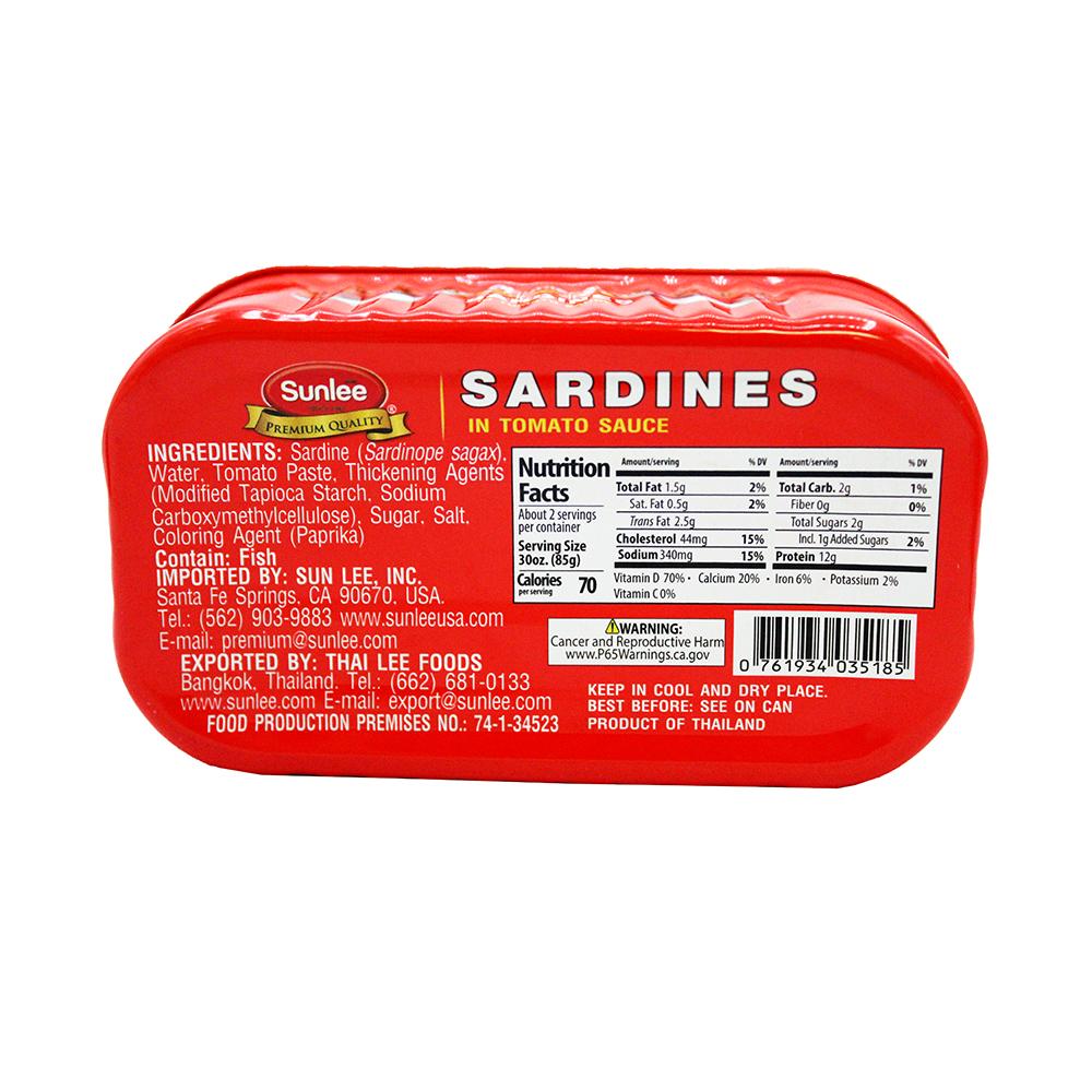 SUNLEE Sardines In Tomato Sauce 4.4 OZ