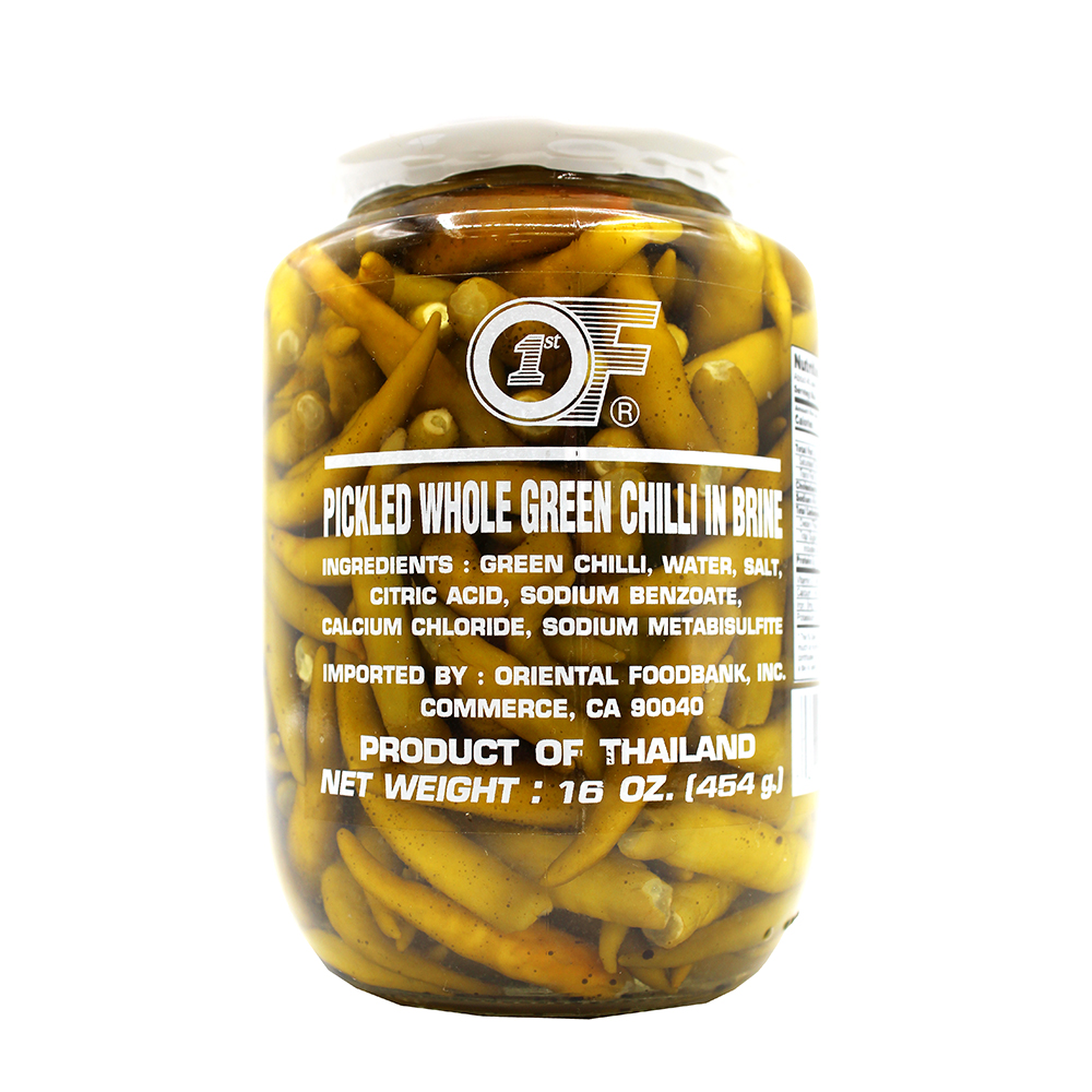 1ST OF Pickled Whole Green Chilli 16 OZ