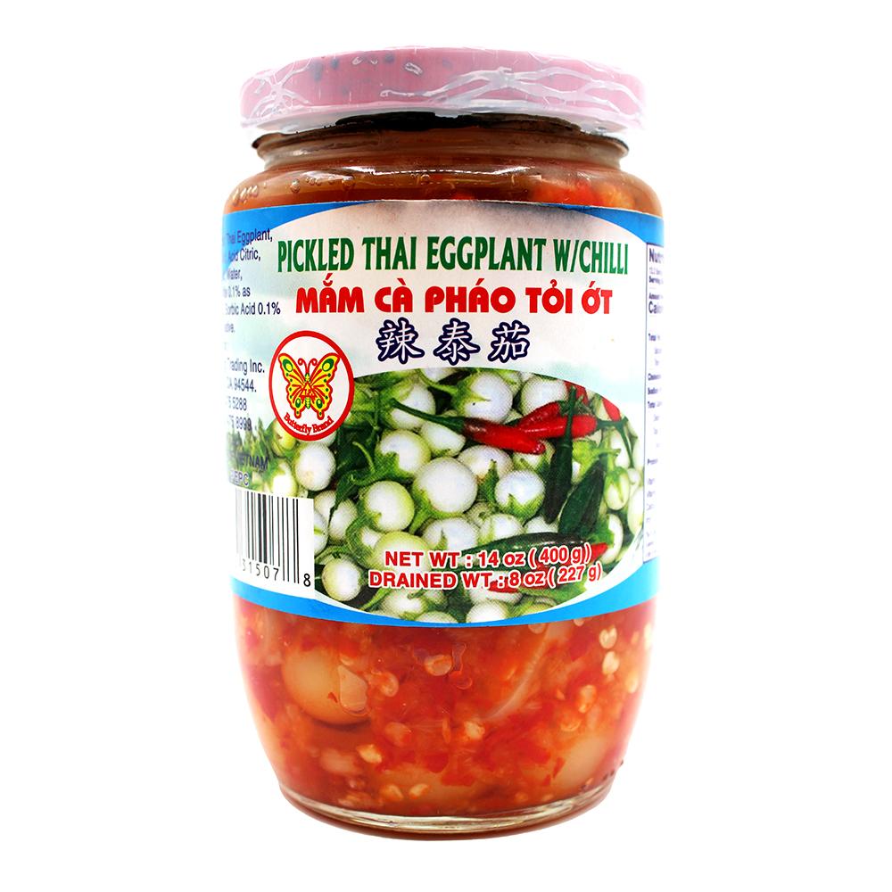 BUTTERFLY Pickled Thai Eggplant With Chili / Mam Ca Phao Toi Ot 14 OZ