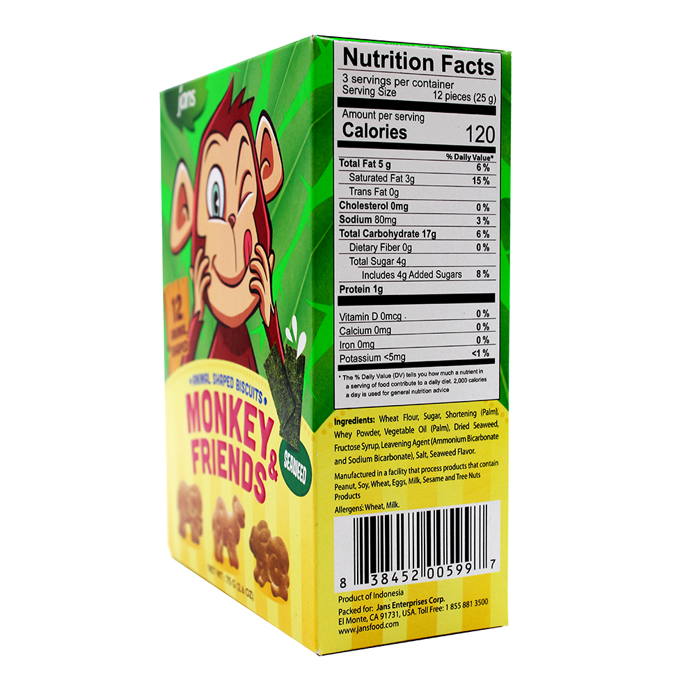 JANS Monkey & Friend Animal Shaped  Biscuit 75 GR