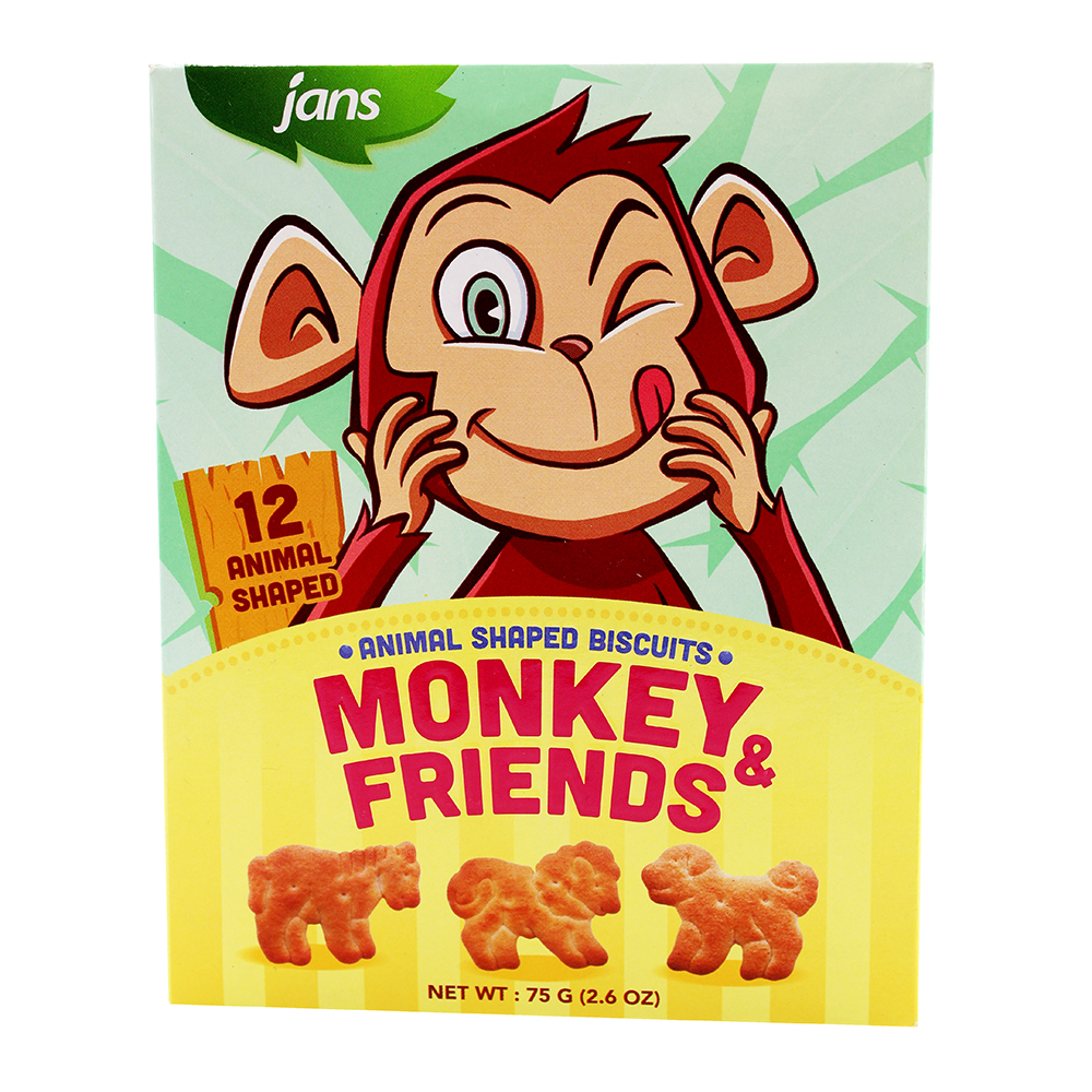 JANS Monkey & Friend Biscuit Original 75 GR