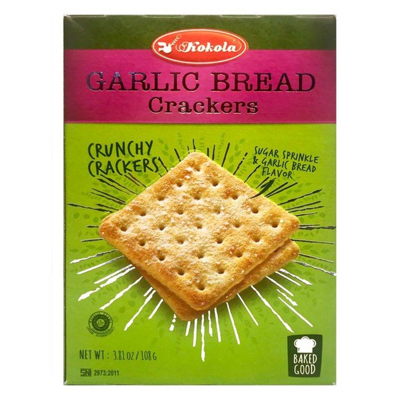 KOKOLA Garlic Bread Crackers 3.81 OZ