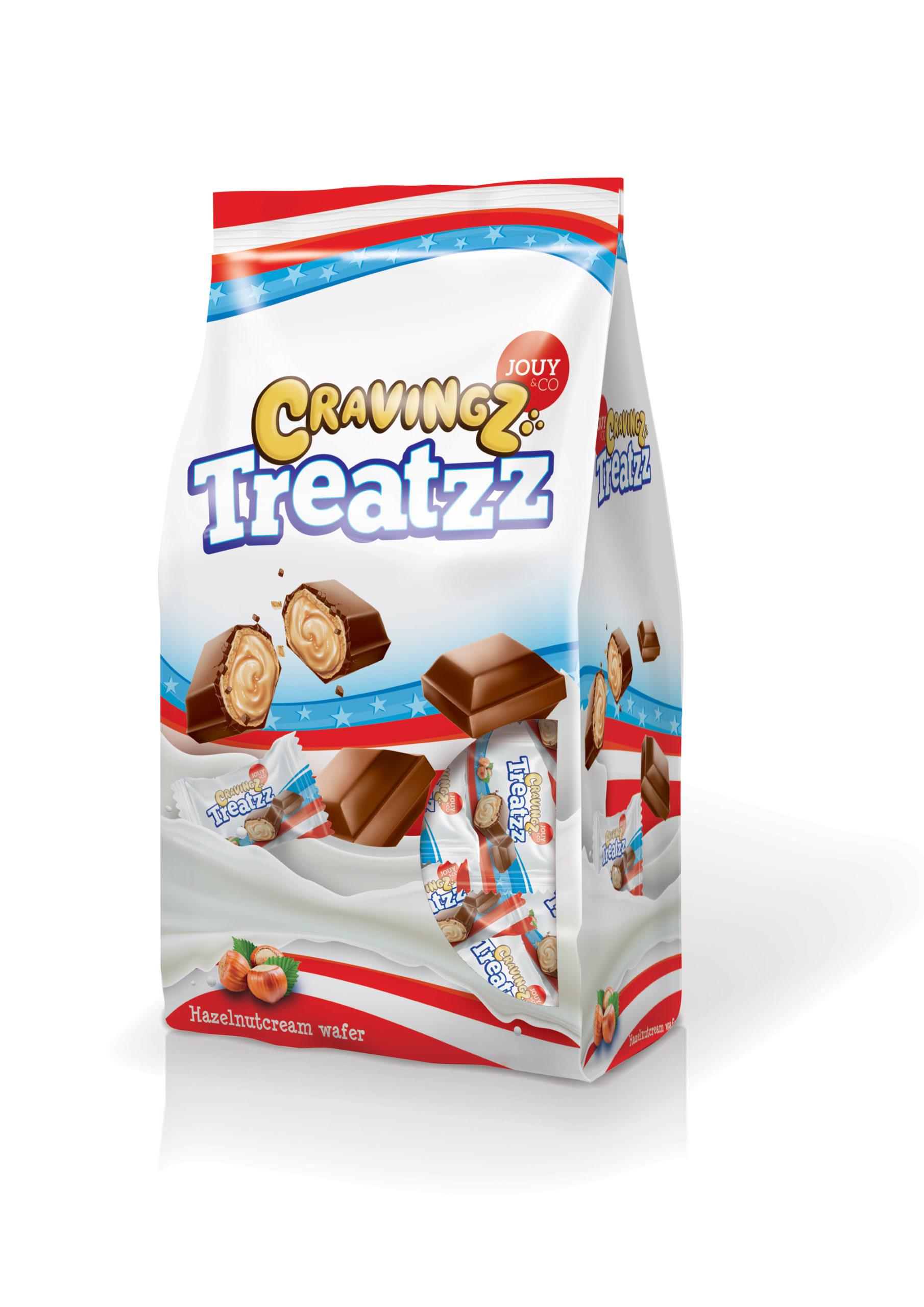 JOUY&CO Cravingz Treatzz Hazelnutcream Wafer 185 Gr