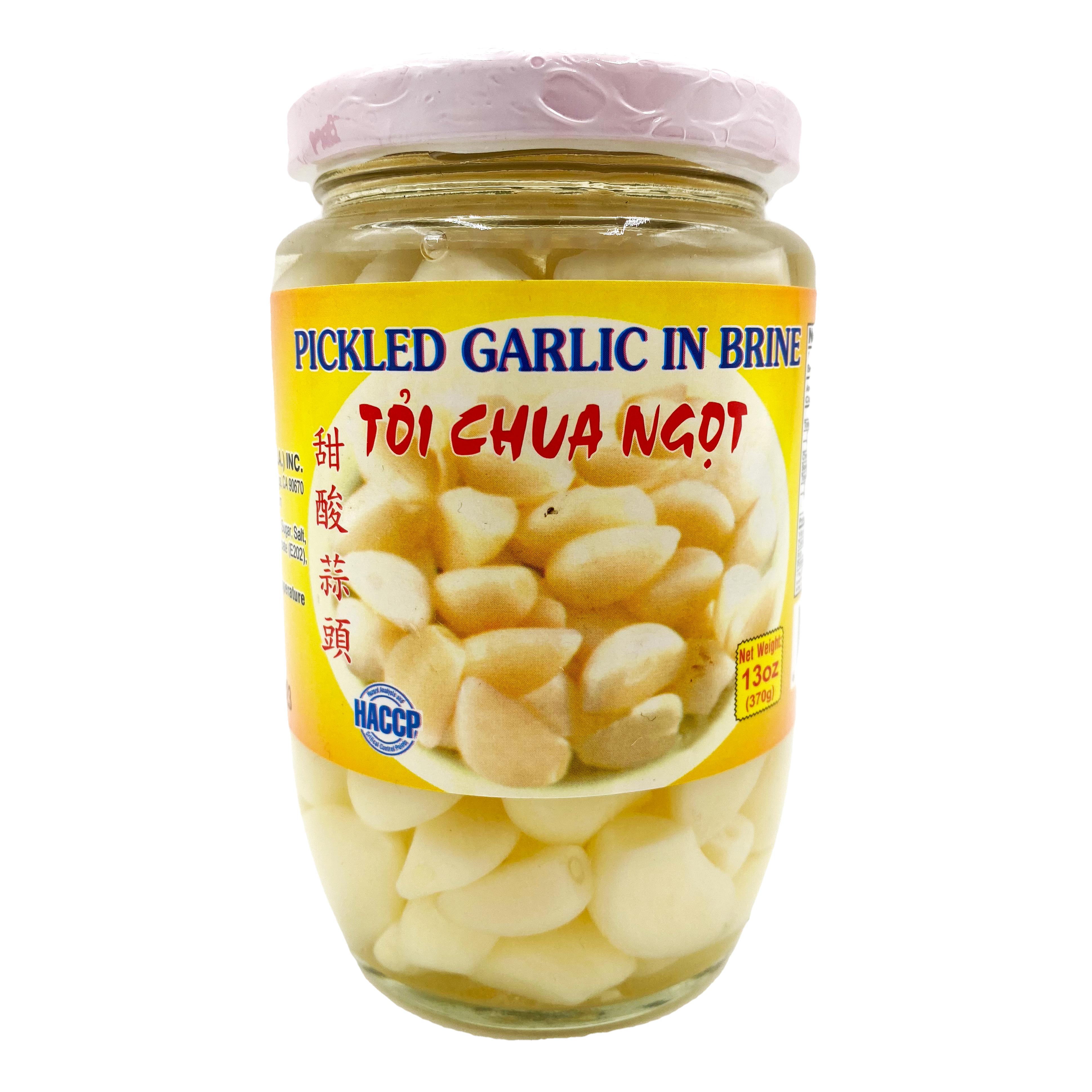ROCKMAN Pickled Garlic In Brine / Toi Chua Ngot 13 OZ