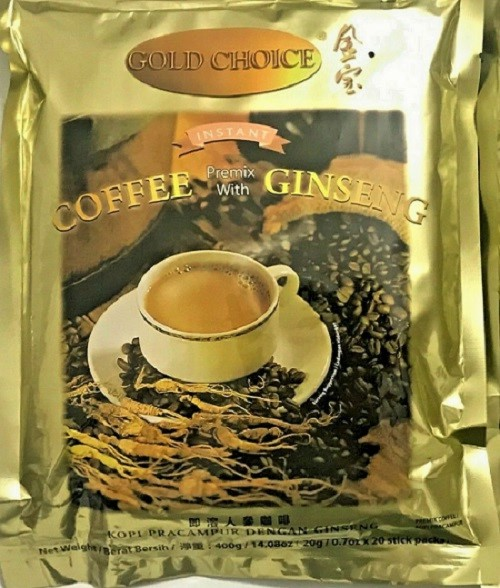 GOLD CHOICE Instant Coffeepremix With Ginseng 14.08 OZ