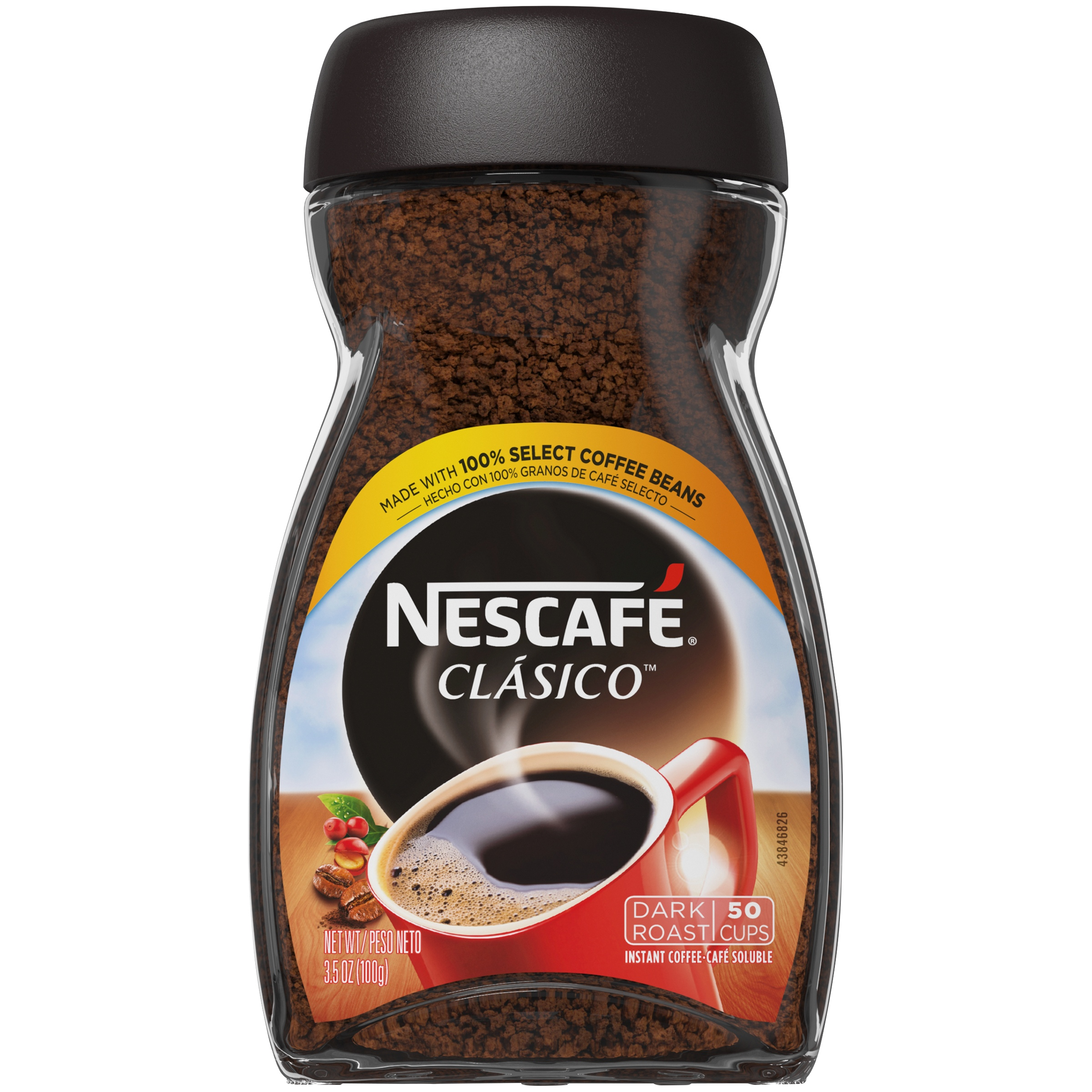NESCAFE Clasico Dark Roast Instant Coffee 3.5 OZ