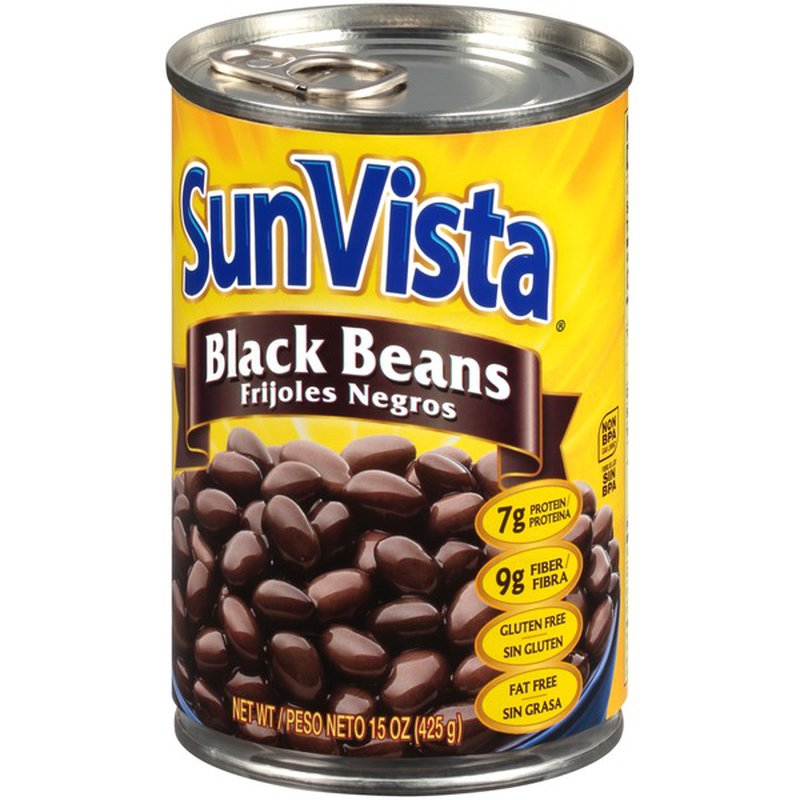 SUN VISTA Black Beans 15 OZ