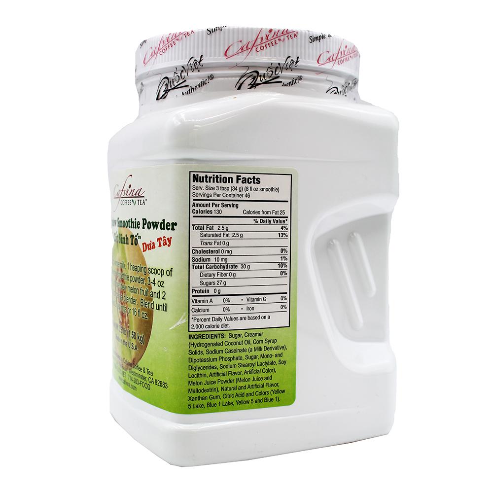 CAFVINA Honeydew Smoothie Powder / Cot Sinh To Dua Tay 3.5 LB