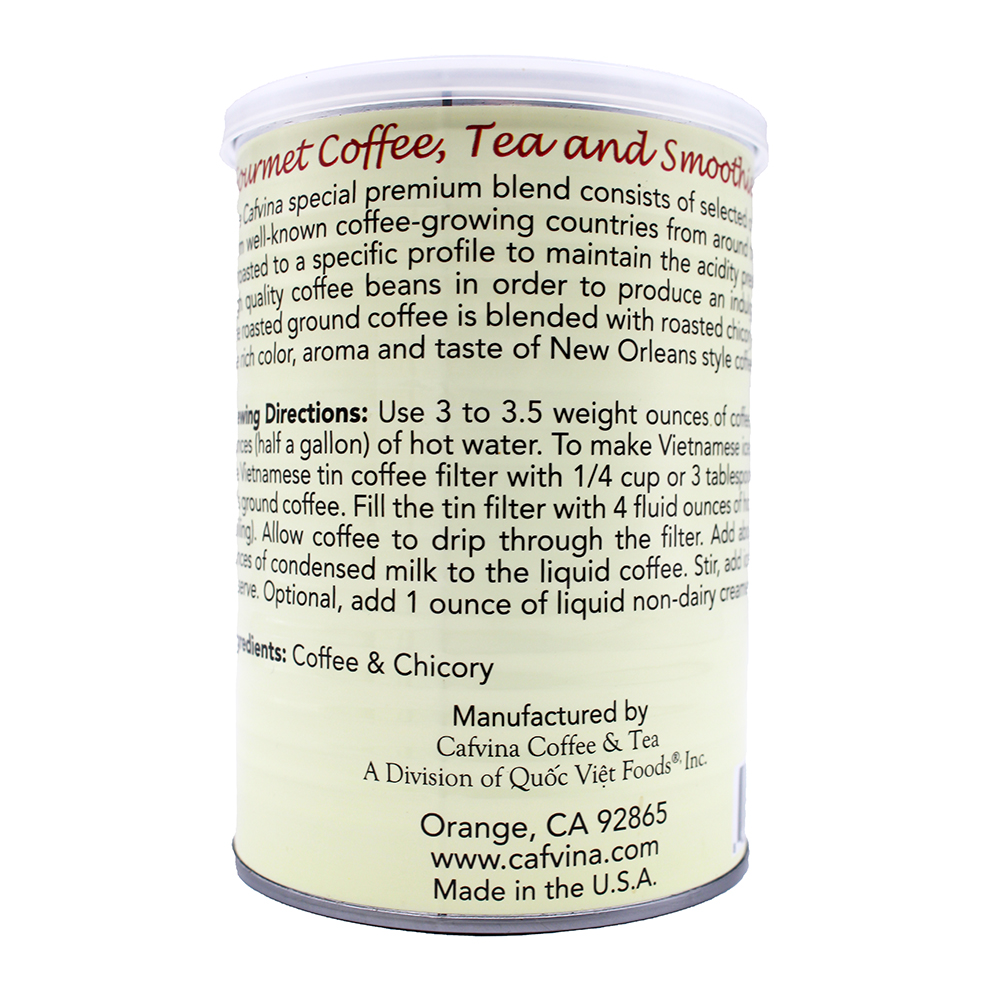 CAFVINA Coffee Tea Orleans Southern Blend 12 OZ