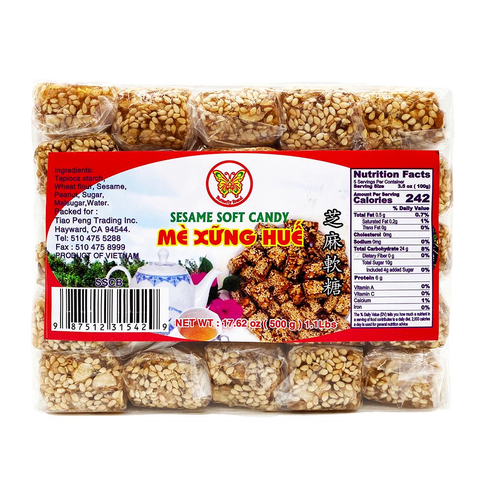 BUTTERFLY Sesame Soft Candy / Me Xung Hue 17.62 OZ