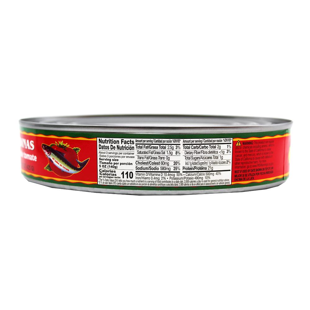 FLOWER Sardines in Tomato Sauce 15 oz