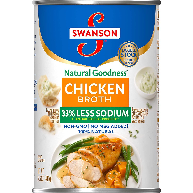 SWANSON Chicken Broth Less Sodium 14.5 OZ