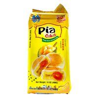 TAN HUE VIEN PIA CAKE Mung Bean  Durian  Egg / Banh Pia Dau Xanh  Sau Rieng  Trung 14 Oz