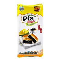 TAN HUE VIEN Vegetarian Pia Cake Black Sesame  Durian / Banh Pia Me Den  Sau Rieng 14 Oz